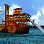 3D Raddampfer Amazonas für Zoo Leipzig