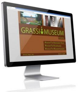 Startseite der internetseite vom Grassi Museum