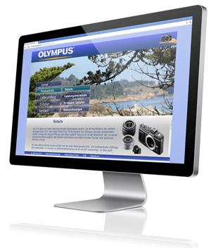 Website über die Systemkamera Olympus EP-2