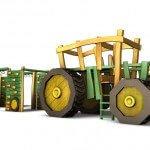 3D Traktor mit Hänger