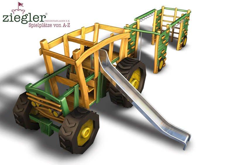 Klettergerüst Traktor : D projekt klettertraktor mit klettergerüst als hänger