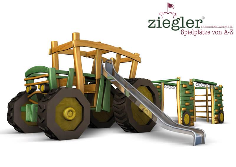 Klettergerüst Reifen : 3d projekt klettertraktor mit klettergerüst als hänger
