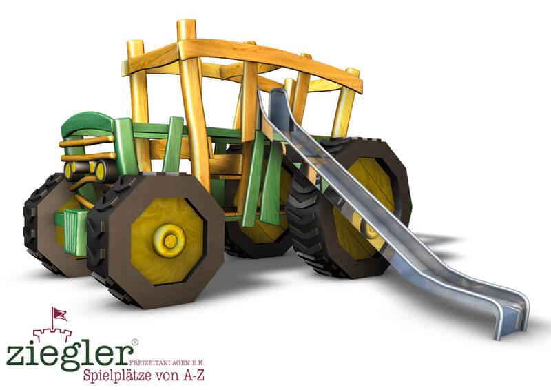 Klettergerüst Traktor : 3d projekt klettertraktor mit klettergerüst als hänger