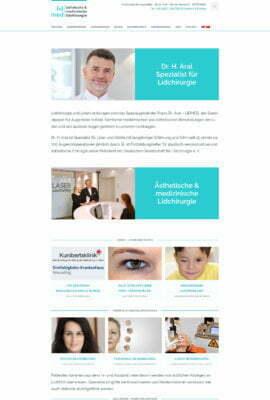 Ästhetische medizinische Lidchirurgie LIDMED Dr Aral Köln